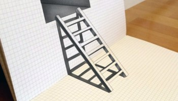 Drawn optical illusion sketch – Trick Trick speed 3d