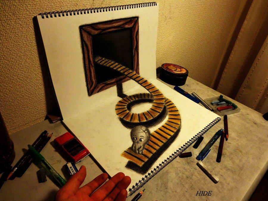 Drawn optical illusion sketch Bogdan Design Optical Drawings 25