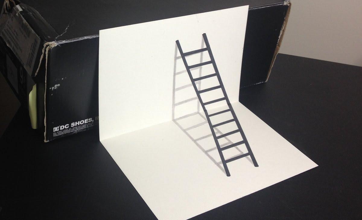 Drawn optical illusion sketch  Illusion YouTube 3D Optical