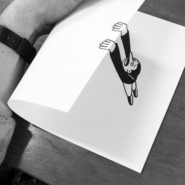 Drawn optical illusion smart Drawings! Drawings! http://www gefaltene Smart