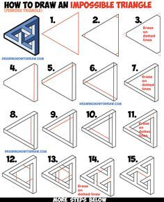 Drawn optical illusion sonic To (Penrose Woven How an