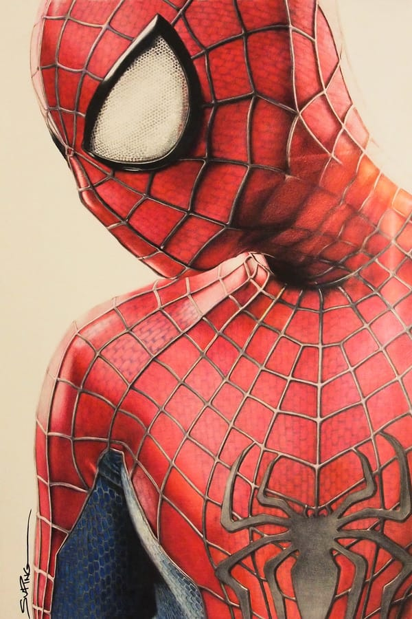 Drawn optical illusion spiderman Optical Seriously is Mess illusion
