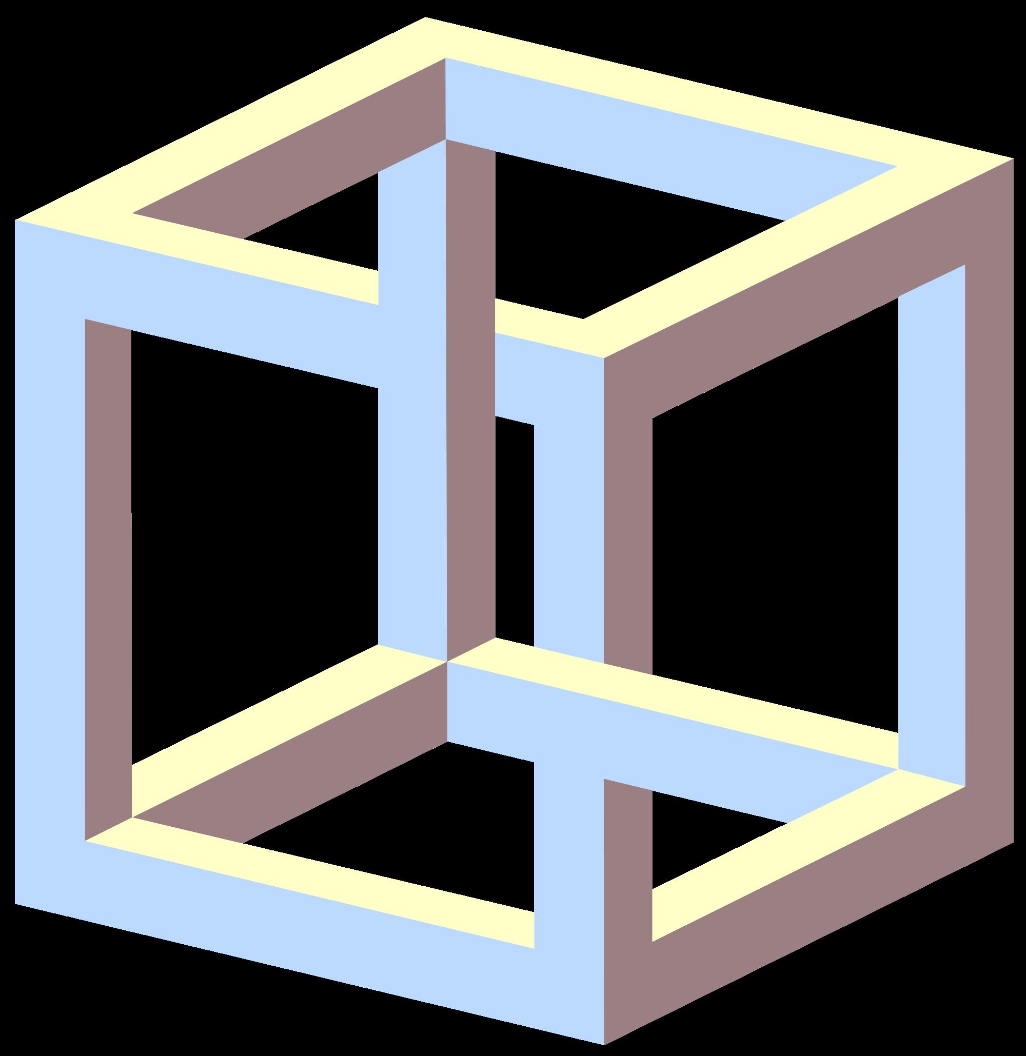 Drawn illusion impossible cube IllusionsEye Recherche Recherche  Awesome