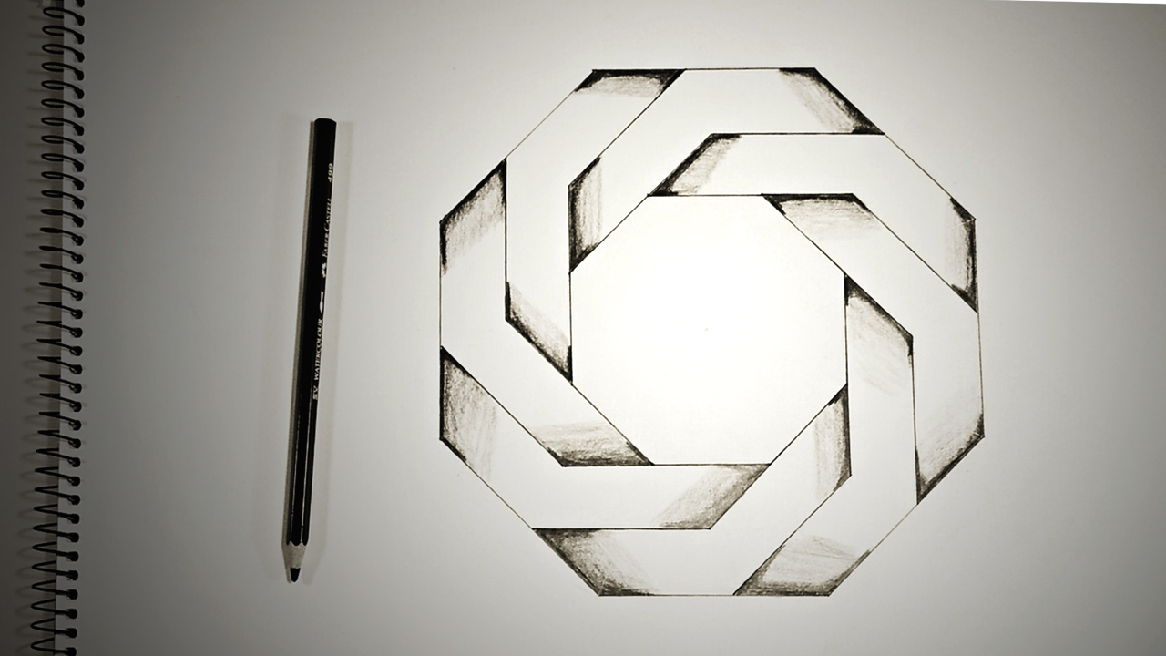 Drawn optical illusion star How Octagon ♦ Optical Dearing