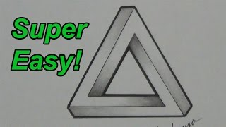 Drawn optical illusion star  How Illusion Impossible Triangle