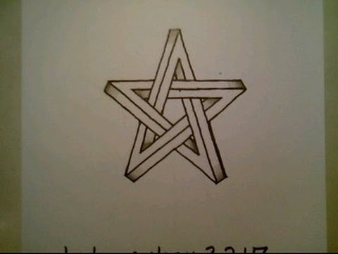 Drawn optical illusion star Optical To Optical To Easy