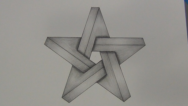 Drawn optical illusion star Star Star  An Tutorials