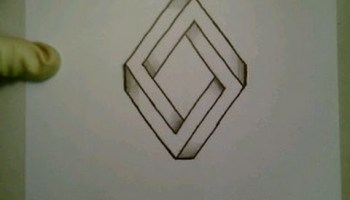 Drawn optical illusion star Illusion To Optical Draw Diamond