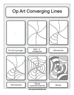 Drawn optical illusion step by step FORELLE Elements the PatternsOptical #1