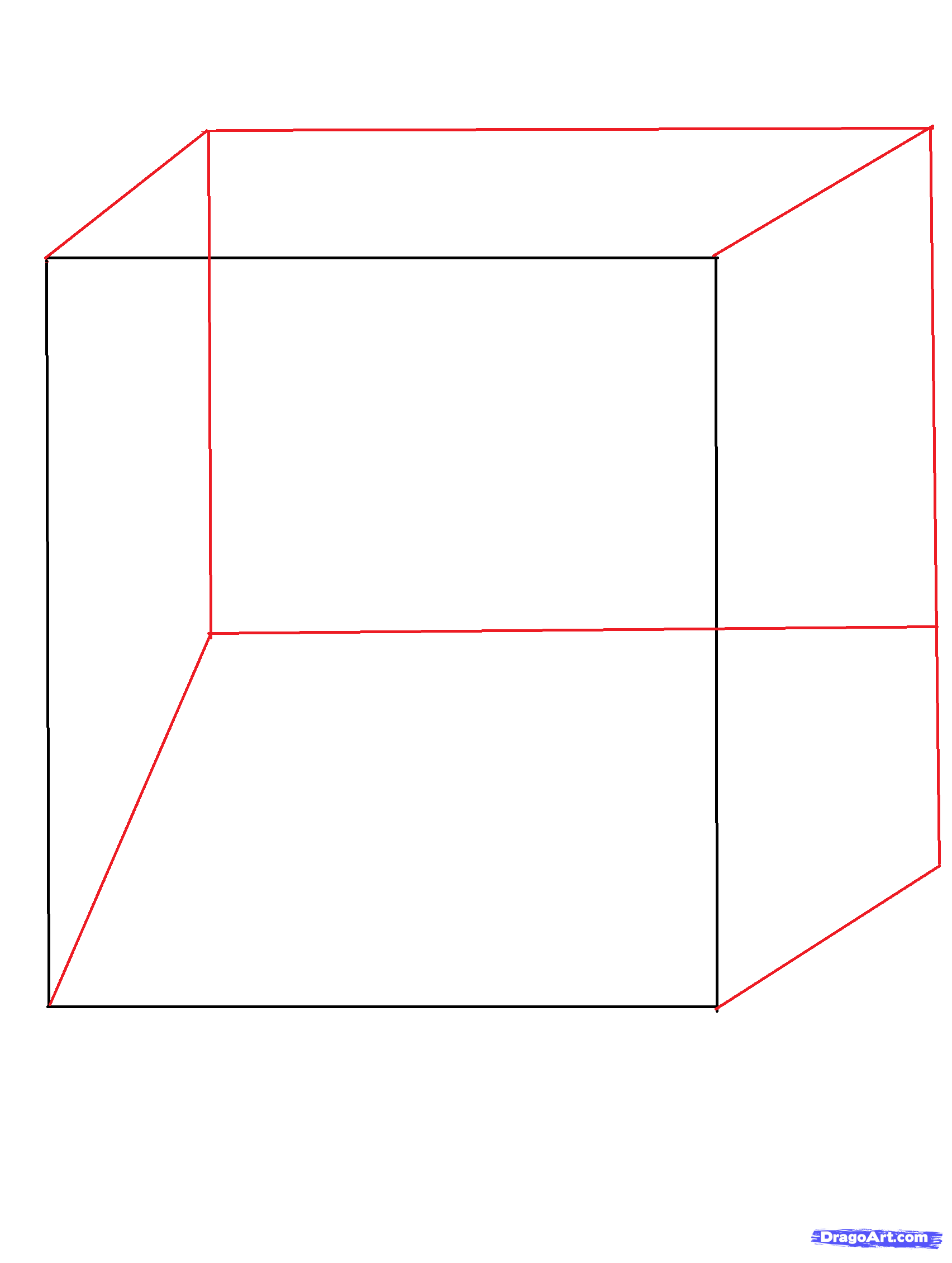 Drawn optical illusion step by step Illusion 3d a to illusion