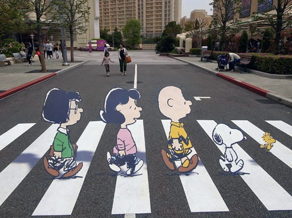 Drawn optical illusion street Genius Optical Puzzles Chalk 3D