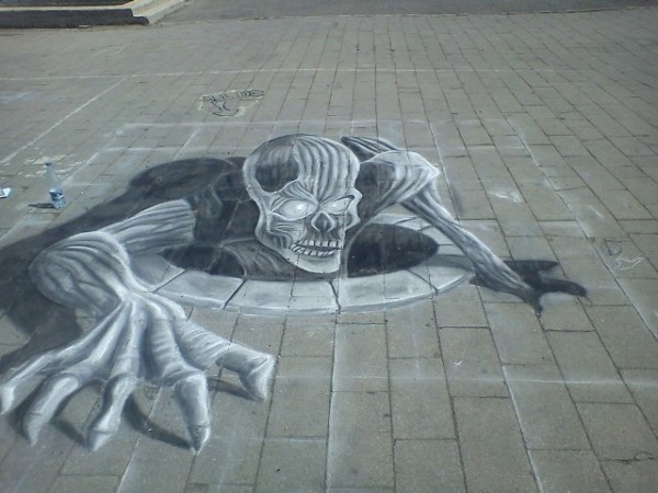 Drawn optical illusion street 25 Optical Optical Drawing You