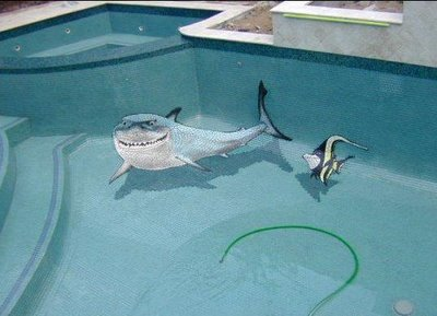 Drawn optical illusion swimming pool As Illusion  Which the