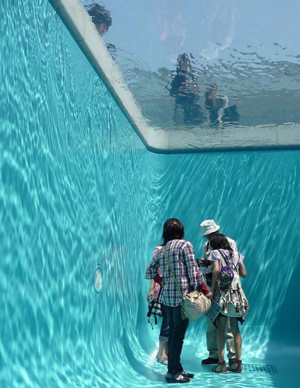 Drawn optical illusion swimming pool 6 fake by Swimming pool