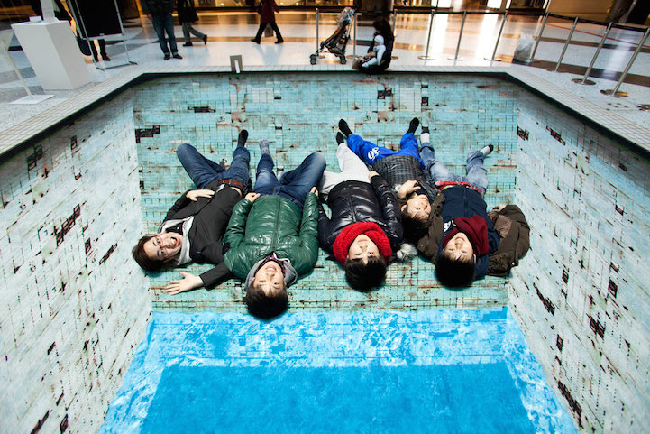 Drawn optical illusion swimming pool Top Deteriorating Pool by Bisscheroux