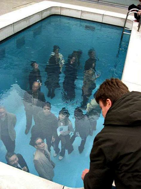 Drawn optical illusion swimming pool Com/watch? Leandro Swimming Pool youtube