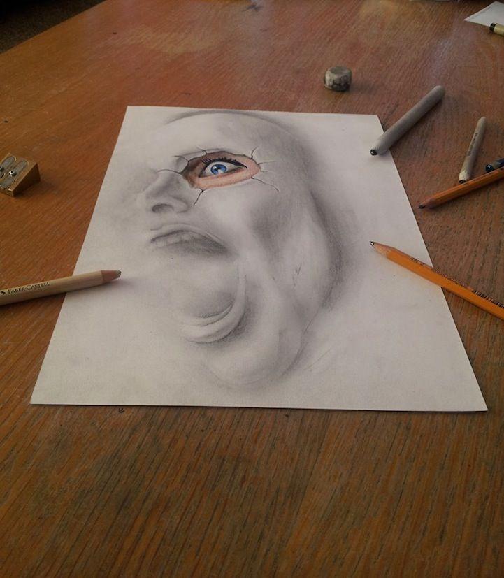 Drawn paper realistic Drawings Best 3D 25+ drawings