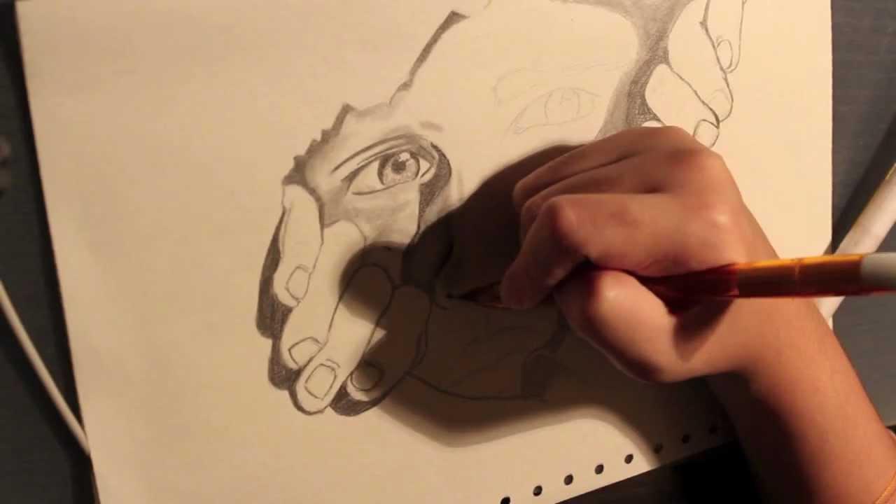 Drawn illusion torn paper #11