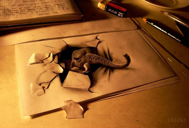 Drawn 3d art ripped paper Lkie add torn i Pinterest
