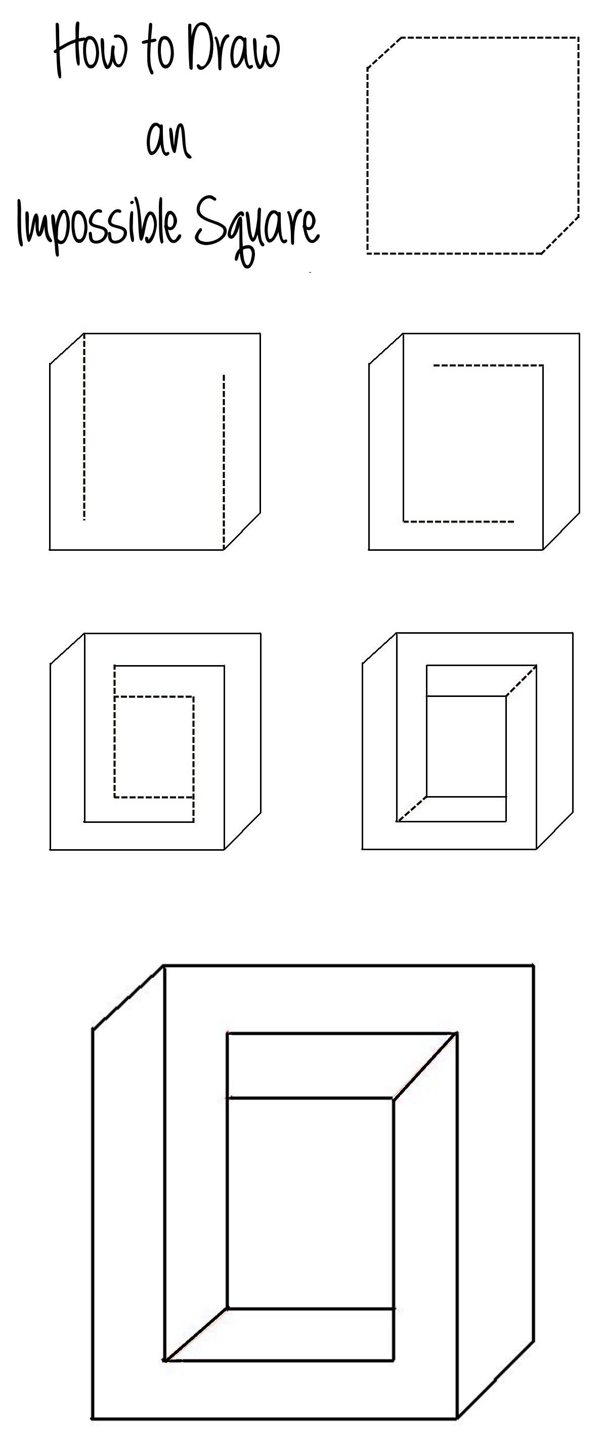 Drawn square Impossible How to Pin an