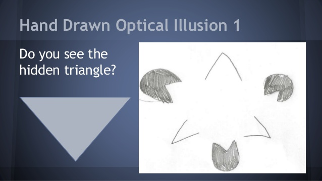 Drawn optical illusion visual illusion And Illusion Hand project acuity