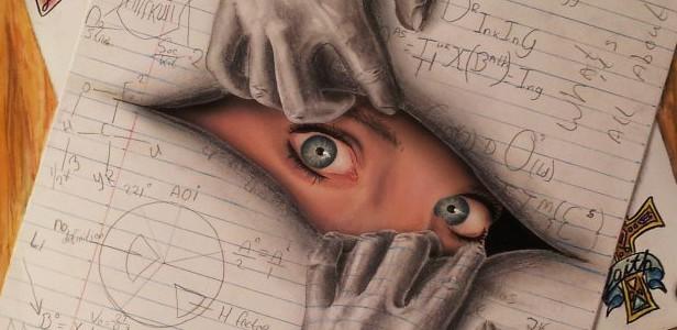 Drawn optical illusion visual illusion Drawing eyes drawing Drawings Young