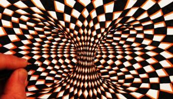 Drawn optical illusion visual illusion A Illusion Illusion Optical Moving