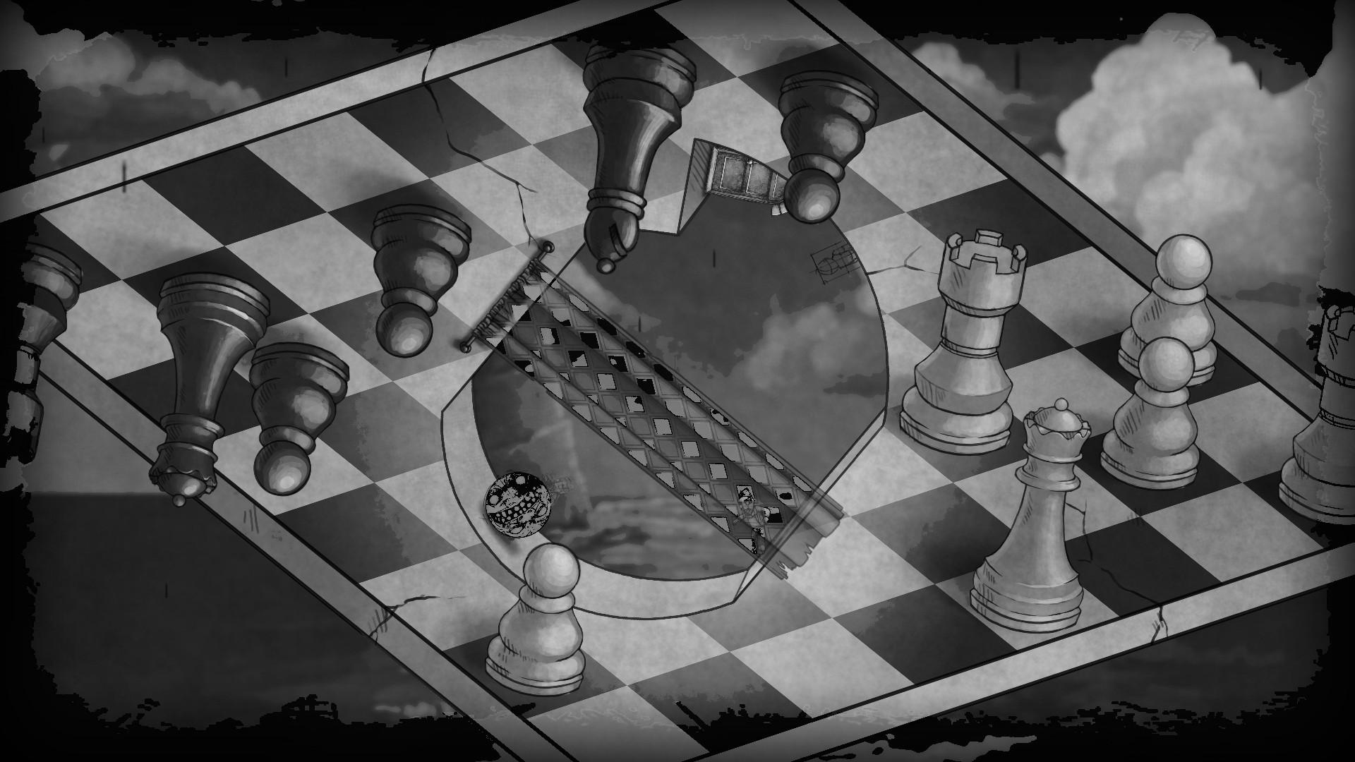 Drawn optical illusion wallpaper Illusion Board Monochrome Pawns Wallpapers
