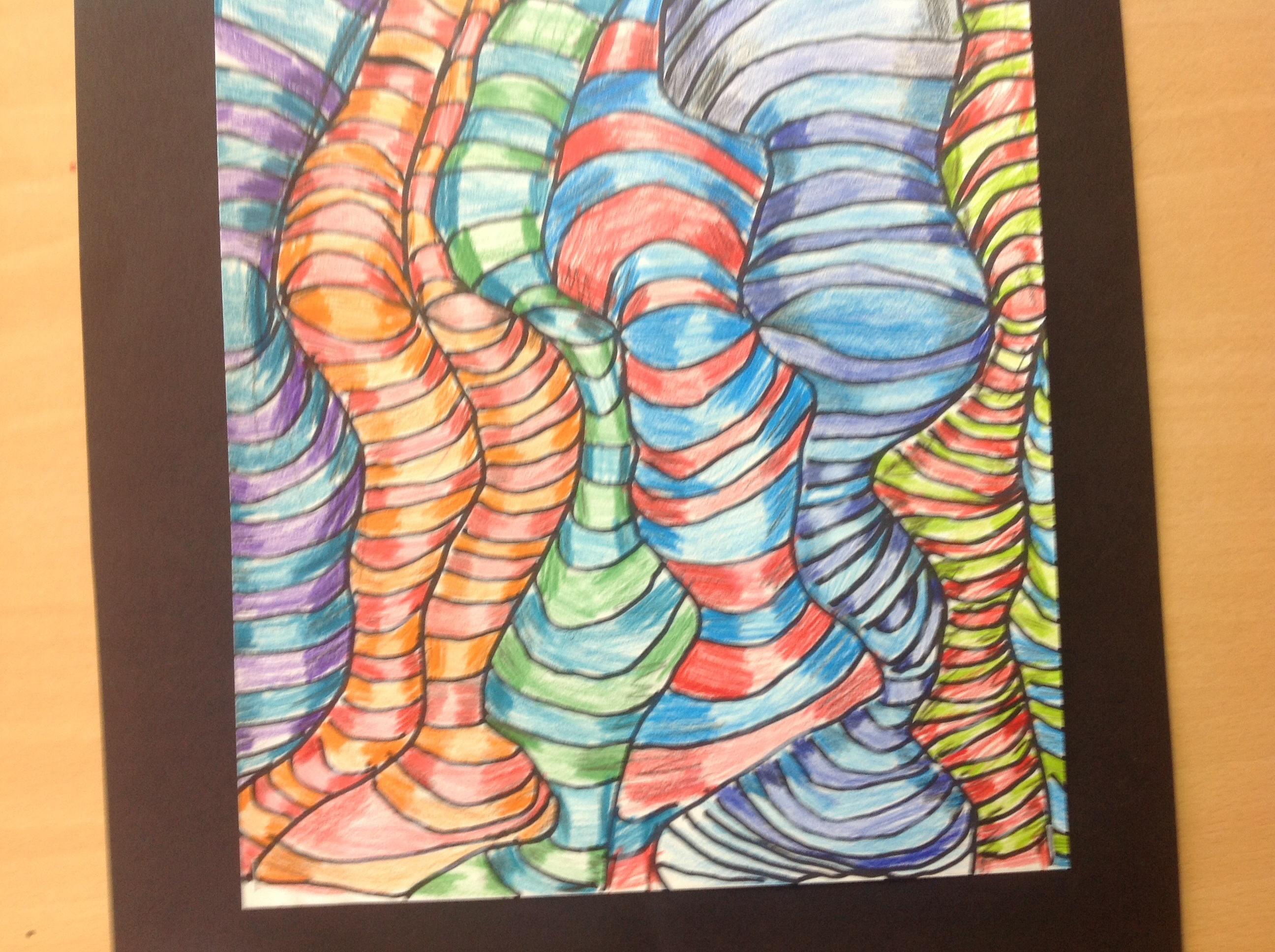 Drawn optical illusion wavy line Kind a its we we