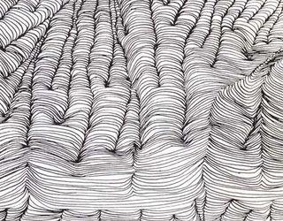 Drawn optical illusion wavy line Contour Contour done Line Pinterest