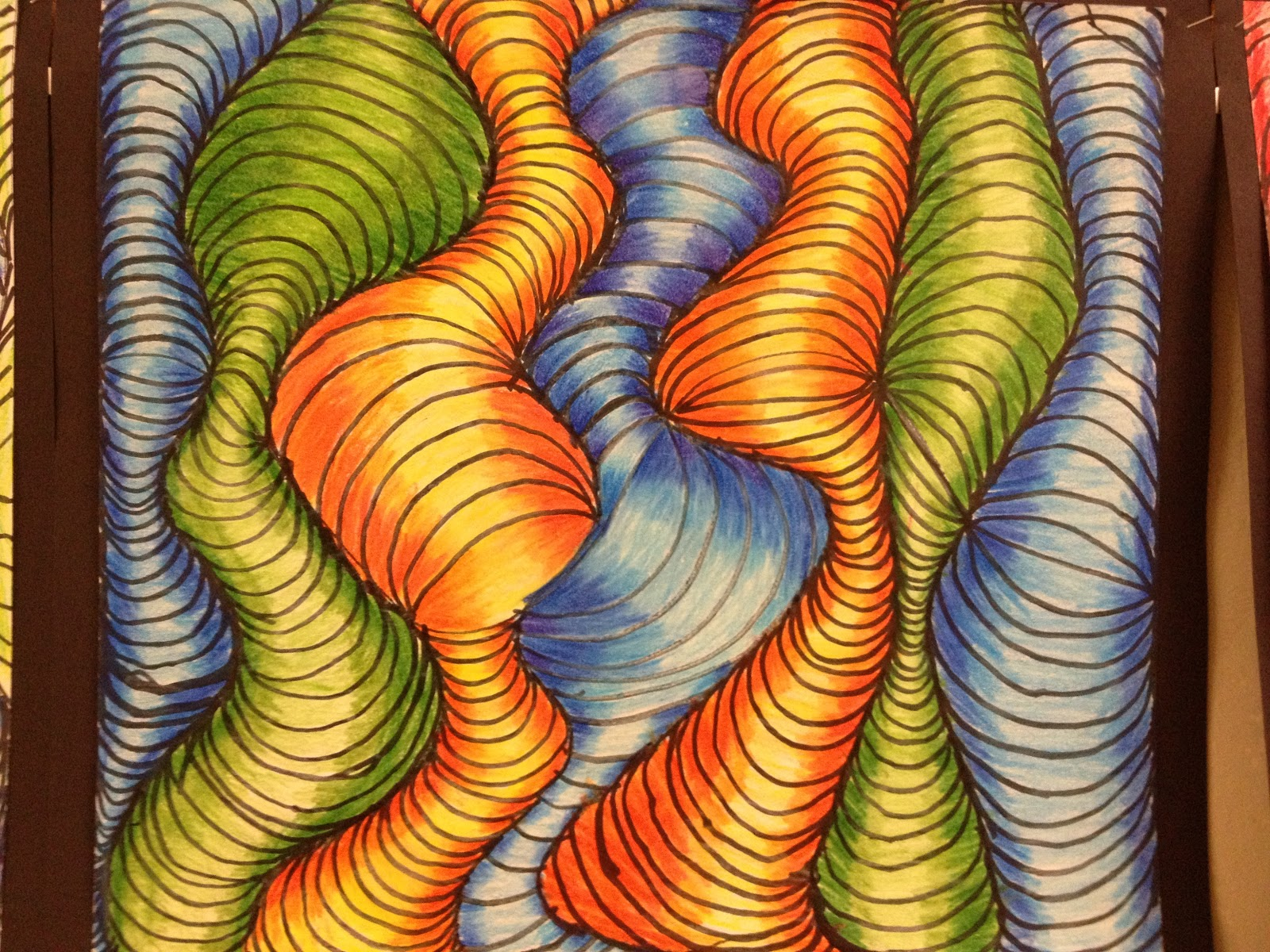 Drawn optical illusion wavy line School: projects of projects
