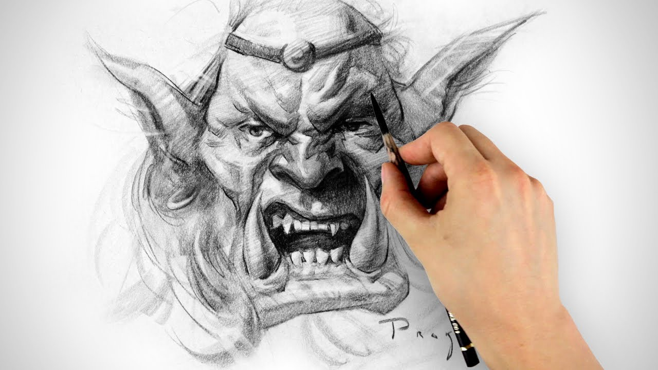 Drawn orc Timelapse Drawing Timelapse Orc YouTube
