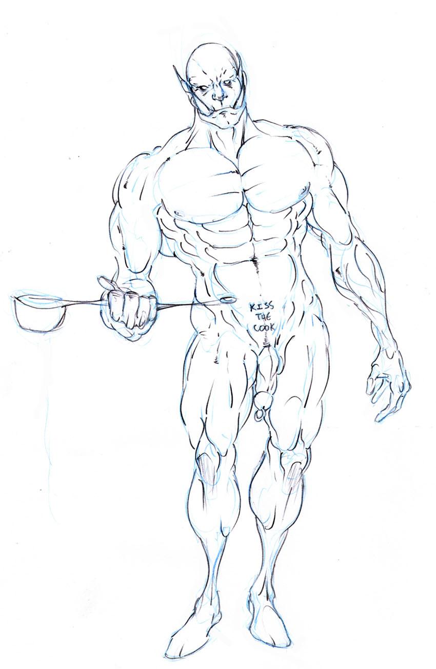 Drawn orc Sketchbook of Selkirk Thread