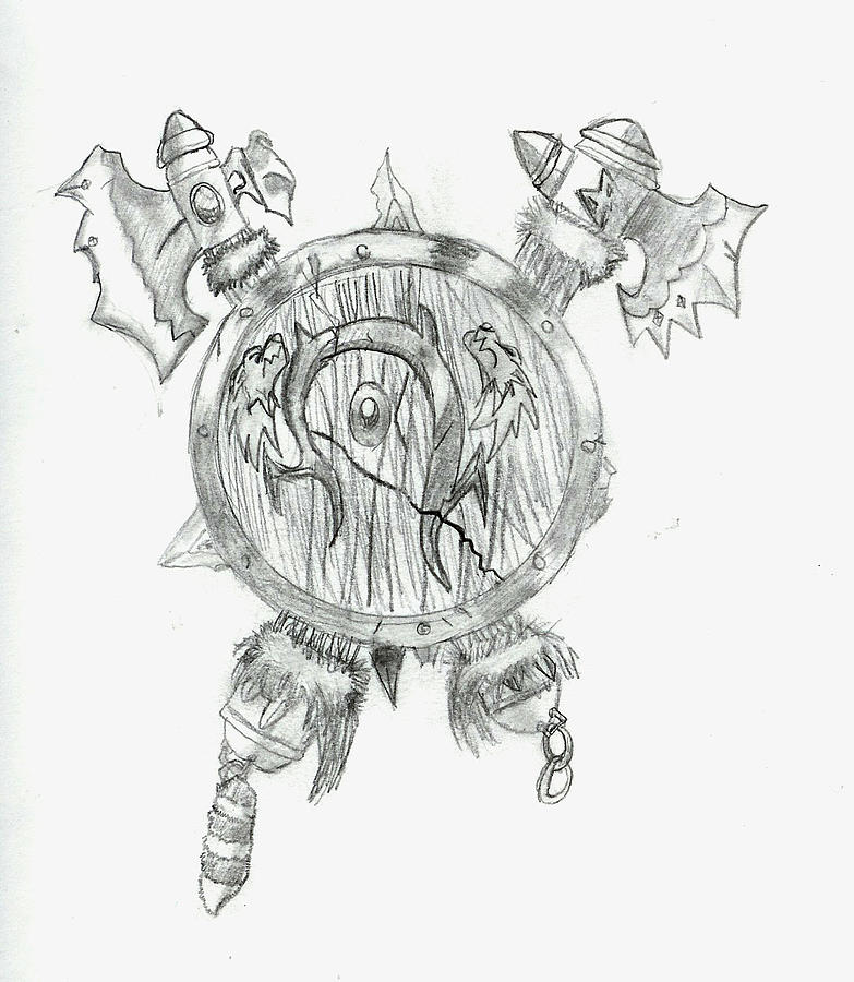 Drawn orc Warcraft Zach Rodgers Drawing Orc