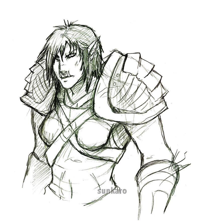 Drawn orc Sketch Sketch DeviantArt Sunkaro Orc