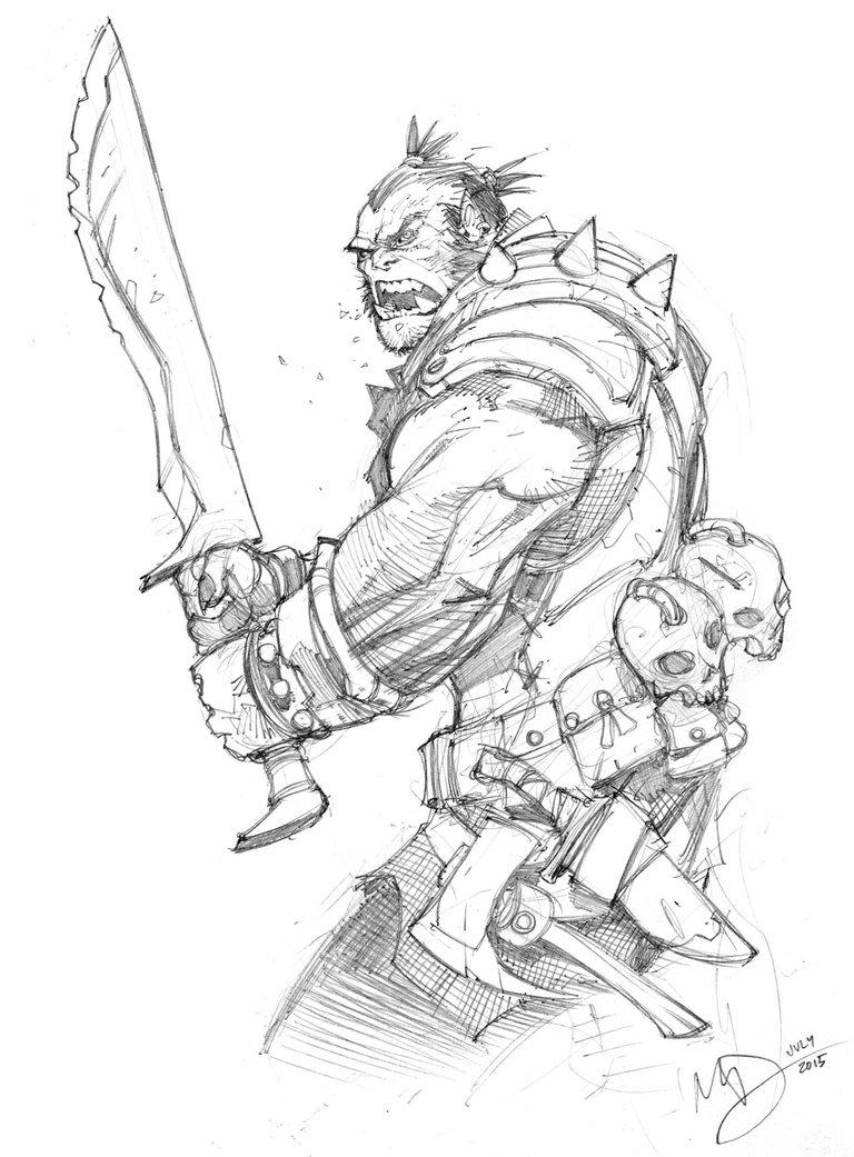 Drawn orc Drawing Drawing Realistic Art Orc