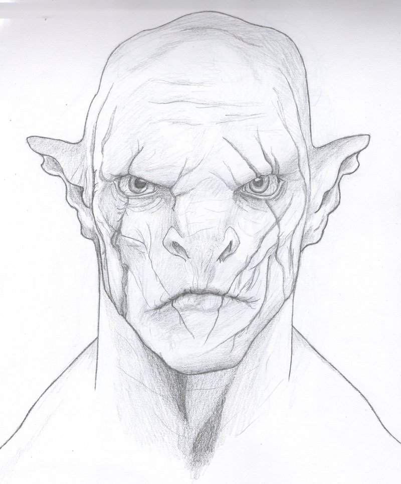 Drawn orc Pic Drawing Realistic Art Orc
