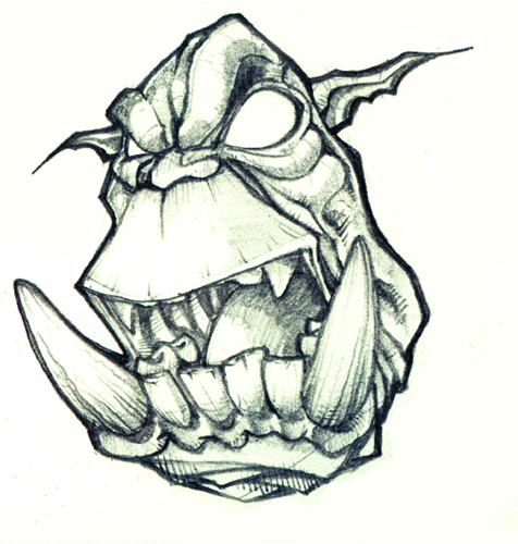 Drawn orc Image Pencil Orc Realistic Drawing