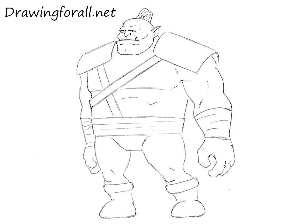 Drawn orc Drawing Cartoon to Draw How