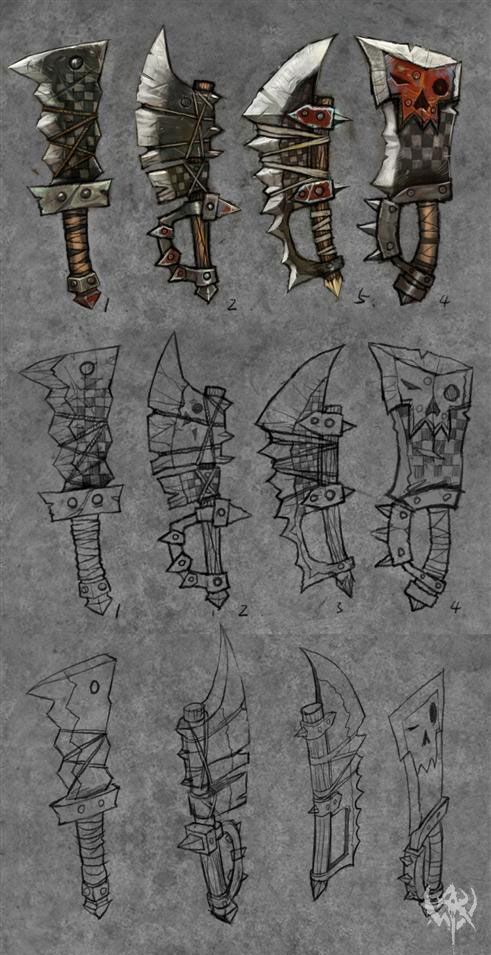 Drawn orc axe Weapon orc about 149 images