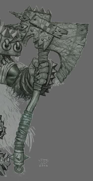 Drawn orc axe Battle kak8ap Orc Critiques] Another