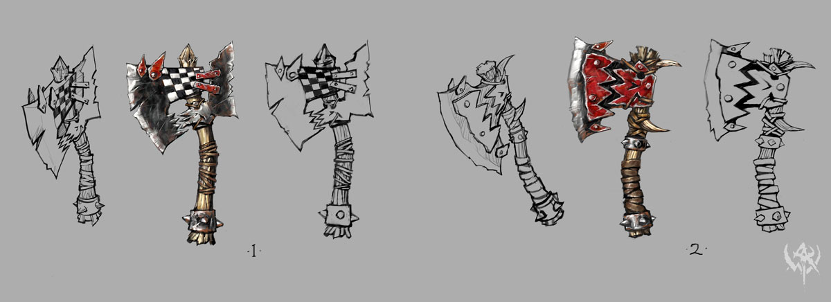 Drawn orc axe More Concept Pinterest online Weapons