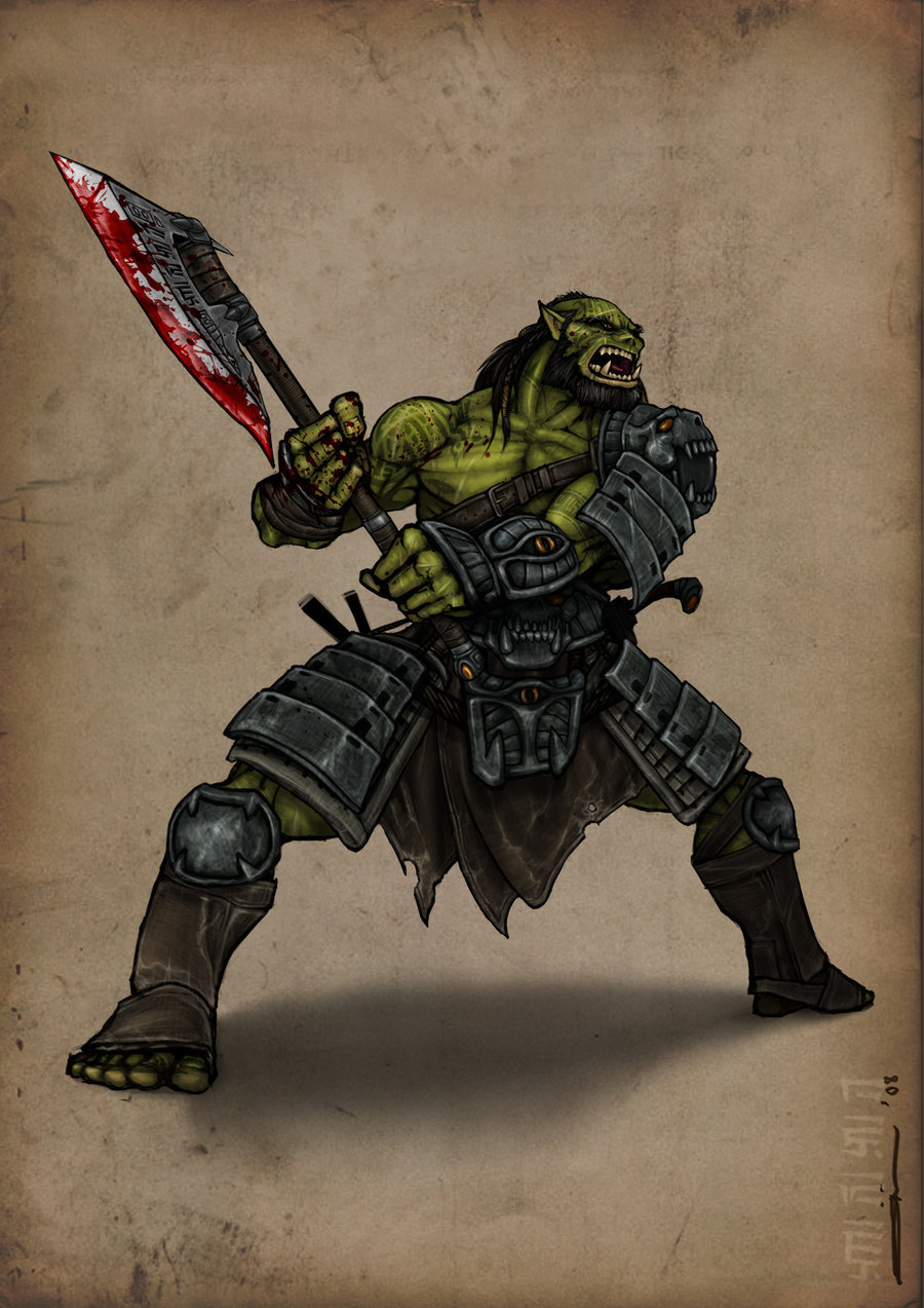 Drawn orc axe You World Thread: With