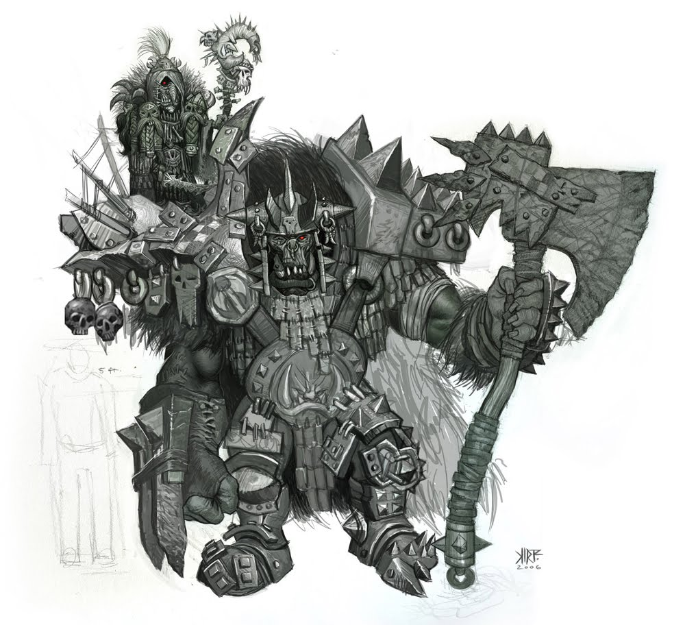 Drawn orc axe Warsword [S] S] New Post
