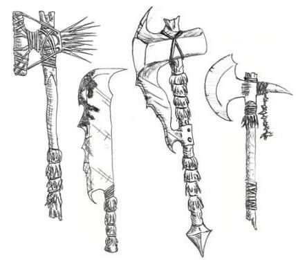 Drawn orc axe About orc images sword) best