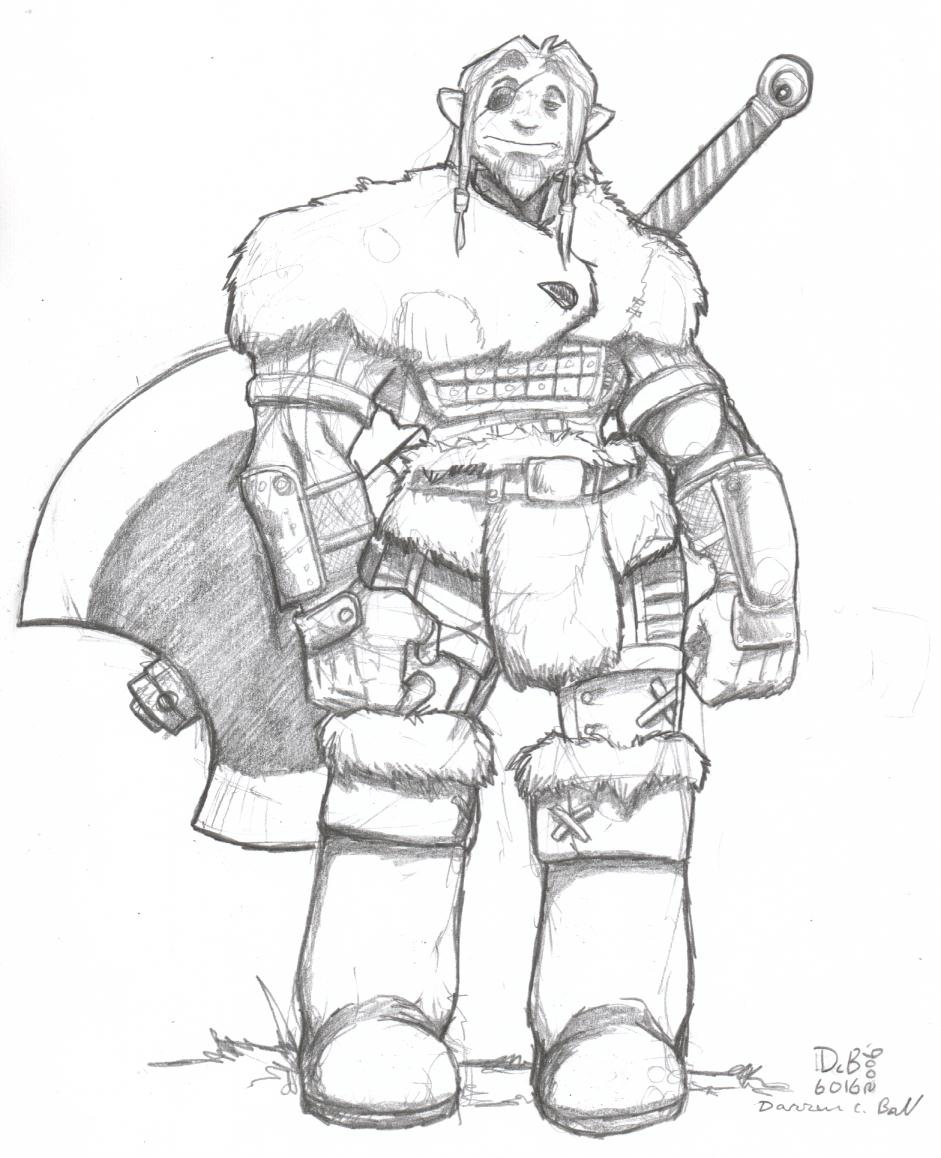 Drawn orc axe Orc Mr Half d6016 by