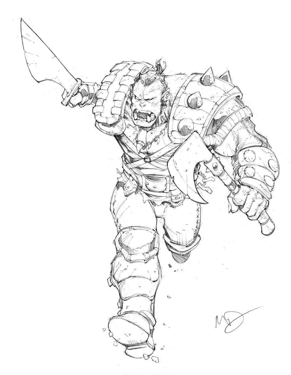 Drawn orc cartoon (Max 31 Max DeviantArt Max