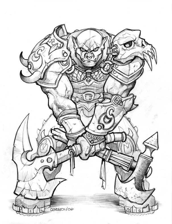 Drawn orc cartoon On ~12thman Orc Orcs Characters: