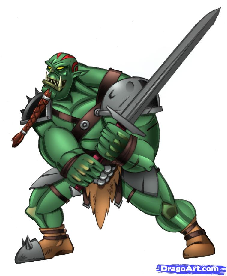 Drawn orc cartoon Step an how Orcs Step