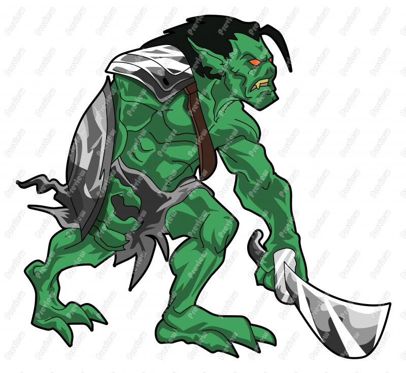 Drawn orc cartoon Free Clip Orc Cartoon Vector